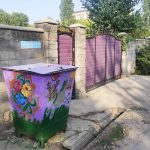 «Веселый» контейнер на улице Калтаева