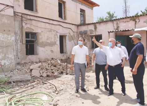 Жөндеу жұмыстары – аудан әкімінің бақылауында