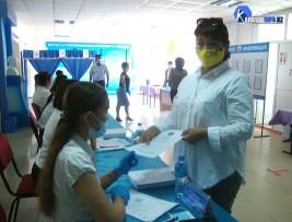В Карасайском районе избиратели проявляют высокую активность