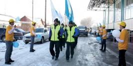 «Астана-Алматы» марафоншылары қасиетті Қарасай жеріне де жетті