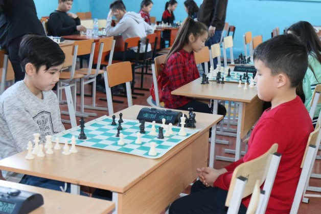 Оқушылар арасындағы шахматтан жарыс