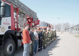 Пожарно-тактическое учение в СДУ