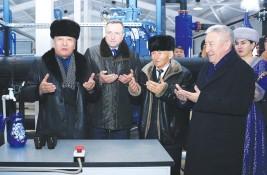 Запуск первого комплекса Каскеленского группового водопровода