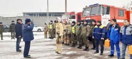 Пожарно-тактическое занятие на АЗС