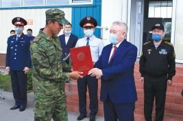 Қарасайлық әскери міндеттілердің қызметтері аяқталды